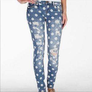 BDG | UO | Mid-Rise Slim Straight Polka-Dot Jeans